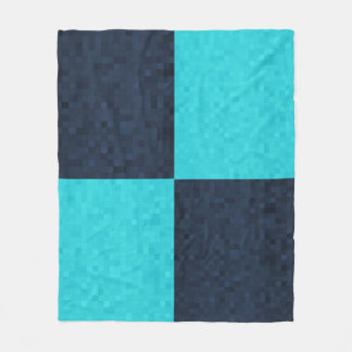 Blue Mosaic Rectangular Pattern, Fleece Blanket