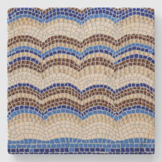 Blue Mosaic Sandstone Coaster