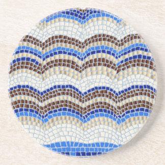 Blue Mosaic Sandstone Drink Coaster
