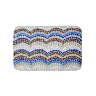 Blue Mosaic Small Bath Mat Bath Mats