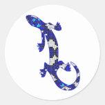 Blue Mosaic Snake Skin Lizard Sticker