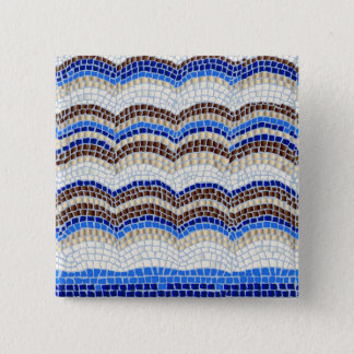 Blue Mosaic Square Button