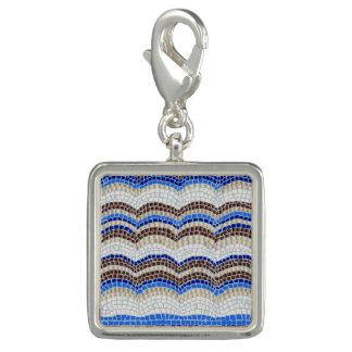 Blue Mosaic Square Charm