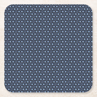 Blue Mosaic Square Paper Coaster