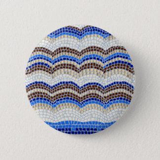Blue Mosaic Standard Round Button