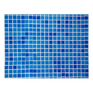 Blue Mosaic Tile Postcard
