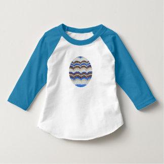 Blue Mosaic Toddler Raglan T-Shirt
