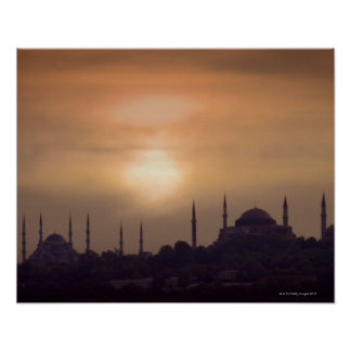 Blue Mosque and Hagia Sophia Turkey, Istanbul Poster