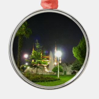 Blue Mosque At  Night. Christmas Ornament