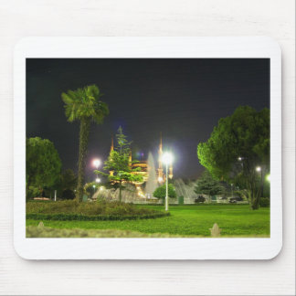 Blue Mosque At  Night. Mouse Mat
