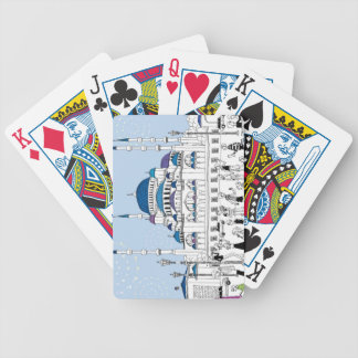Blue Mosque Bicycle Playing Cards