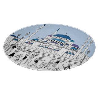 Blue Mosque Cutting Board