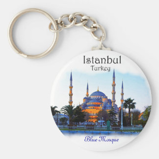 Blue Mosque- Istanbul Basic Round Button Key Ring