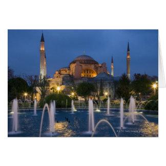 Blue mosque, Istanbul, Turkey Card