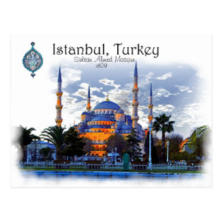 Blue Mosque- Istanbul, Turkey Postcard