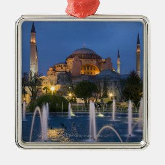 Blue mosque, Istanbul, Turkey Silver-Colored Square Decoration