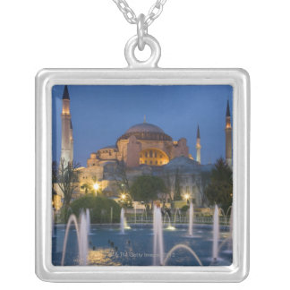 Blue mosque, Istanbul, Turkey Silver Plated Necklace