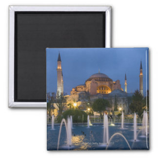 Blue mosque, Istanbul, Turkey Square Magnet
