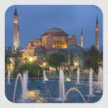 Blue mosque, Istanbul, Turkey Square Sticker