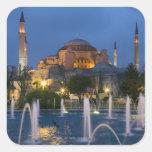 Blue mosque, Istanbul, Turkey Square Sticker