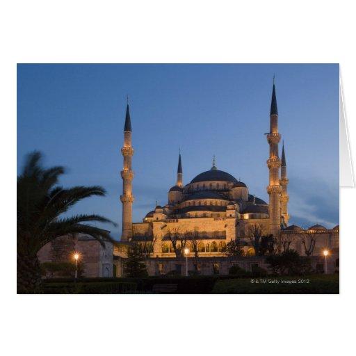 Blue Mosque, Sultanhamet Area, Istanbul, Turkey Greeting Card