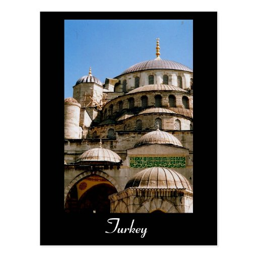 blue mosque turkey post cards