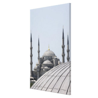 Blue Mosque with the curve of the main dome Canvas Print