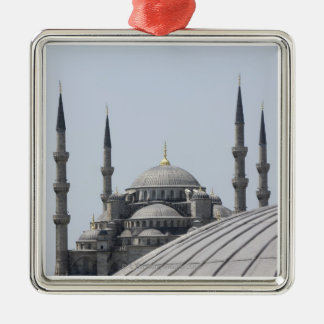 Blue Mosque with the curve of the main dome Christmas Ornament