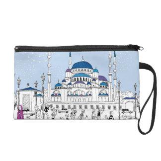 Blue Mosque Wristlet