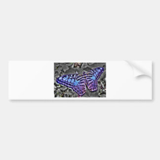 Blue Moth Bumper Sticker