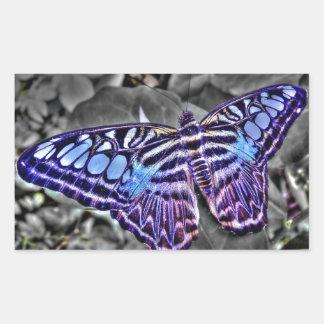 Blue Moth Rectangular Sticker