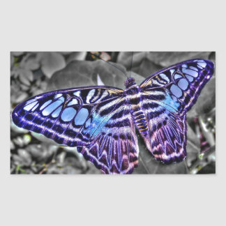 Blue Moth Rectangle Sticker
