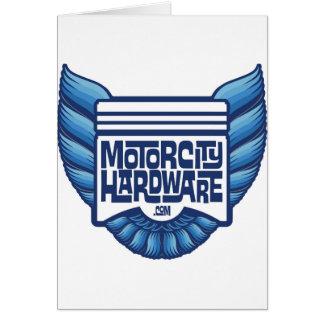 Blue Motor City Hardware Bird Logo Greeting Cards