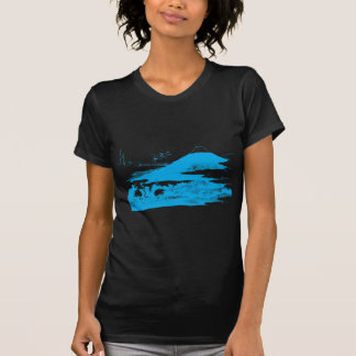 Blue Mount Fuji Dark Apparel T-Shirt
