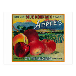 Blue Mountain Apple Crate LabelCove, OR Postcard