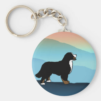 Blue Mountain Bernese Dog Key Ring