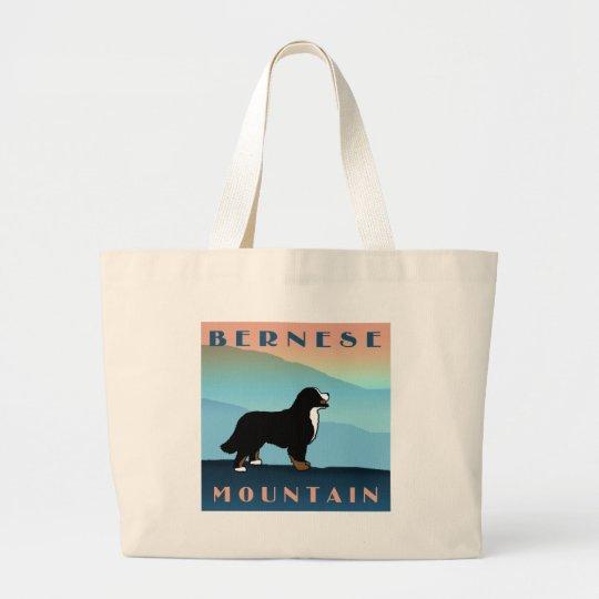 Blue Mountain Bernese Dog Large Tote Bag