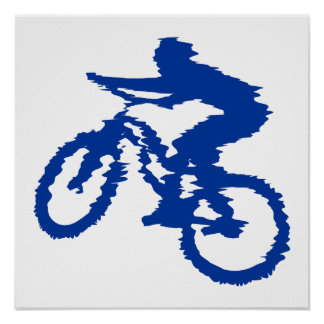 Blue Mountain Bike Poster