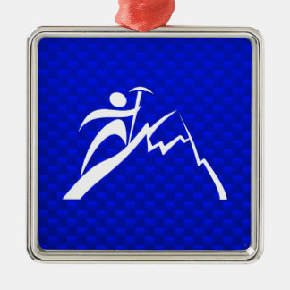 Blue Mountain Climbing Christmas Ornament
