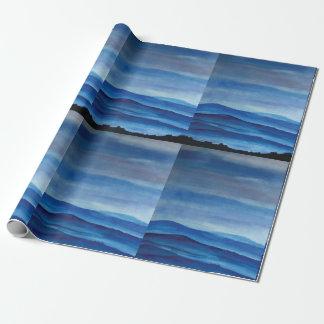 Blue Mountain Landscape Matte Wrapping Paper