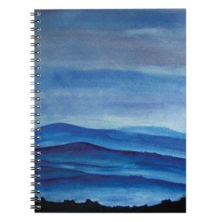Blue Mountain Landscape Photo Notebook