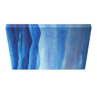 Blue mountain landscape watercolor Art Canvas