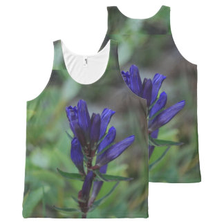 Blue Mountain Wildflower All-Over Print Tank Top