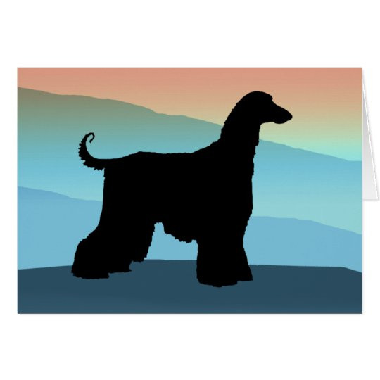 Blue Mountains Afghan Hound Card
