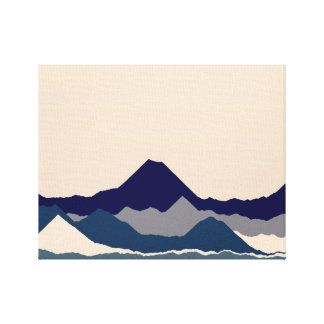 Blue Mountain's Landscape Canvas Print