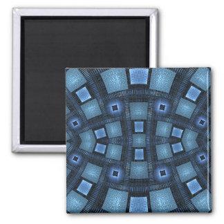 Blue Moves Square Magnet