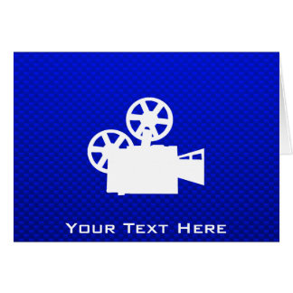 Blue Movie Camera Cards