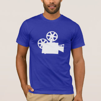 Blue Movie Camera T-Shirt