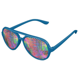 Blue Multiple Colour Party Aviator Sunglasses