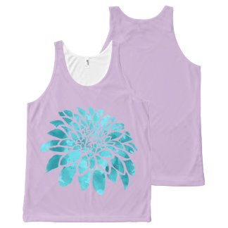 Blue Mum on Lavender All-Over Print Tank Top